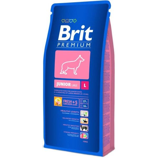 Zdjęcie Brit Premium Junior Large L 15kg - karma dla psa